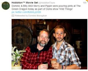 Billy and Dom back in Hobbiton!